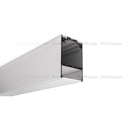 Profil LED DES, aluminium anodowane, profil do podwieszenia 2m