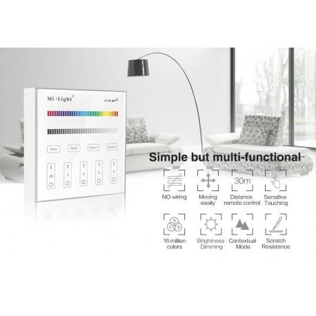 Mi Light Panel RF 2.4G 4-strefowy naścienny RGB   RGB+W